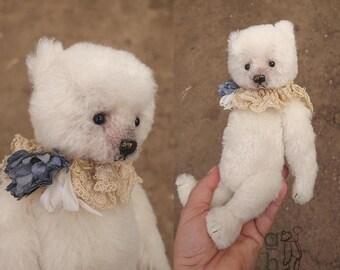 Hazel, White Alpaca Artist Teddy Bear from Aerlinn Bears