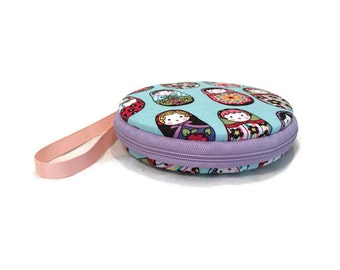 Matryoshka Nesting Dolls Macaron Wristlet Clutch Wallet Large Medium Small or Kit - The Nika