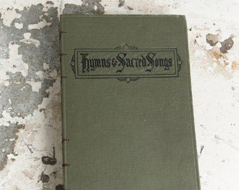 1918 HYMNS & SACRED Songs Vintage Song Notebook