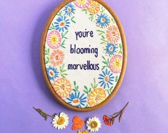 You're Blooming - Marvellous Hand Embroidery Wall Hoop