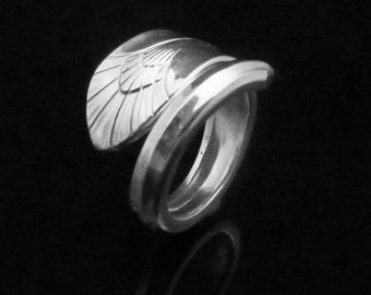 Victorian Art Deco Spoon Ring, Manhattan 1951