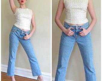 Vintage Levis 505 Jeans / Light Blue Womens Classic  Highwaisted Denim Regular Fit Straight Leg Jeans  / Small / Bohemian Vintage