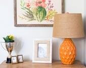 Reclaimed Wood Framed Canvas Print   Succulent Assortment   Handmade Gifts under 100