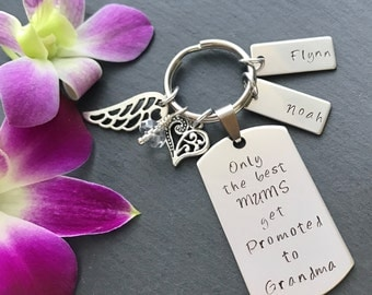 Personalised Mothers Day Gift - Grandmother Gift - Hand Stamped Keyring - Gifts for Grandma - Gift for Mum - Grandparent Gift