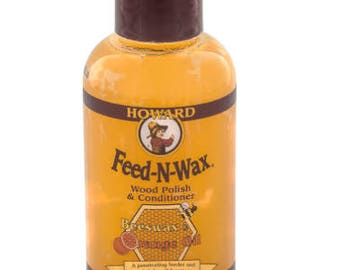Howards Feed-N-Wax (4oz or 8oz Bottle)