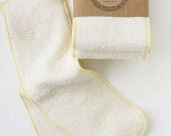 hemp organic cotton snap in diaper liner soaker insert set