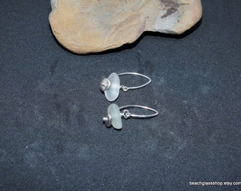 Sea Glass Earrings - Beach Glass Jewelry - Bottle Earrings - Cleveland Beach Glass - FREE Shipping inside the United States