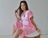 Pink with White Marrakech Resort Caftan Kaftan beach cover ups resortwearloungewear maxi dresses birthd