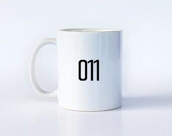 011 | Stranger Things Mug | Stranger Things Gift | Eleven | Sci Fi Mug | 80's Mug | Geeky Mug | Gift for Her | Gift for Him | M78