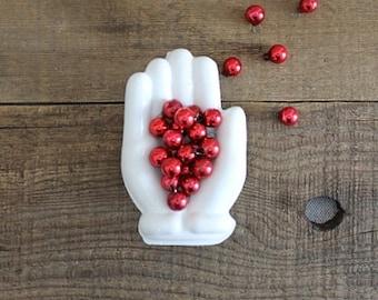Vintage Molded Glass Hand/Glove Dish