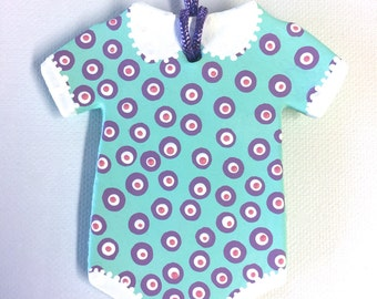 Baby Onesie Ornament Turquoise