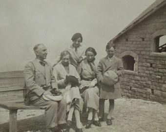 Vintage French 1930's Photo - Family at Les Praz de Chamonix