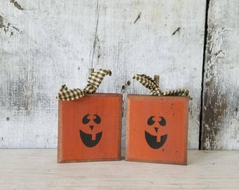 Primitive Fall Decor, Fall Decor, Jack O' Lantern, Pumpkin, Halloween Decoration, Country Fall Decor, Rustic Fall, Primitive Halloween Decor