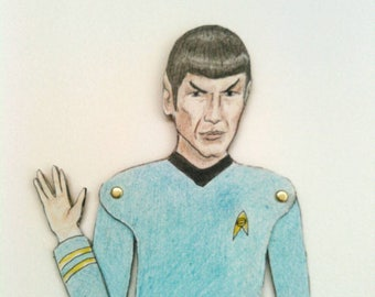 DIY Spock Star Trek TOS Articulated Paper Doll