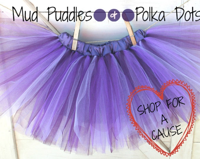 Charis Youth Ranch Shop for a Cause - Shades of Purple Lined Tutu Skirt - Girl, Infant, Toddler, Baby, purple, plum, lavender, gift, CTT57