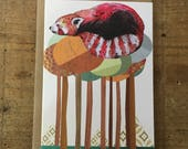 Red Panda // Greeting Card