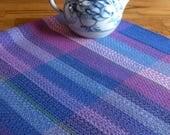 Dish Towel, Hand Woven Kitchen Towel, Woven Cotlin Towel, Woven Hand Towel, Handwoven Tea, Guest Towel, Hostess Gift, Scottish Heather #3