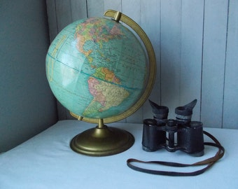 Vintage Scholastic World Globe by Cram
