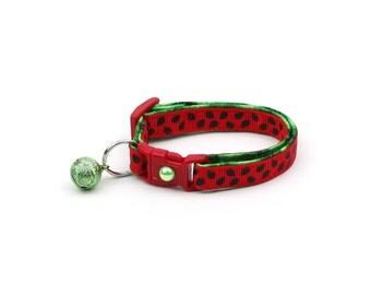 Summer Cat Collar - Fresh Cut Watermelon - Small Cat / Kitten Size or Large Size