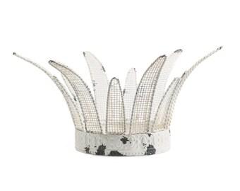 Cake Topper, White Crown, Princess Crown, Princess Party Crown