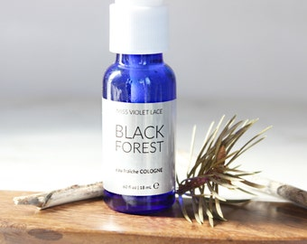 Black Forest Cologne | Stocking Stuffers for Men | Woodsy Unisex Cologne Spray | 100% natural and vegan
