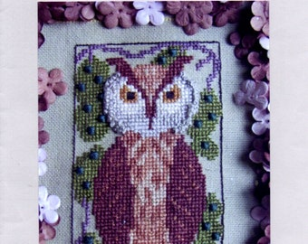 "OWL By The Bay Needleart ""Birds of A Funky Feather #4"" Donna Bayliss Counted Cross Stitch Pattern"