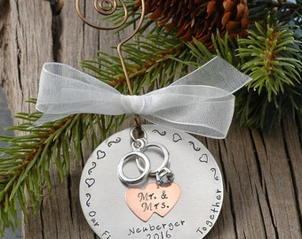 Personalized Wedding Christmas Ornament Our First Christmas Together Mr. & Mrs. 2016