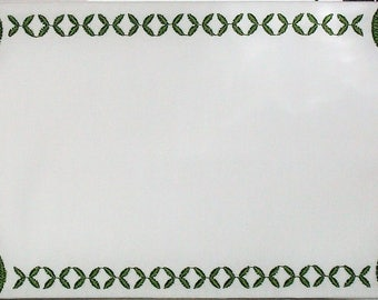 Hanover Tulip embroidered quilt label to personalize with your own message