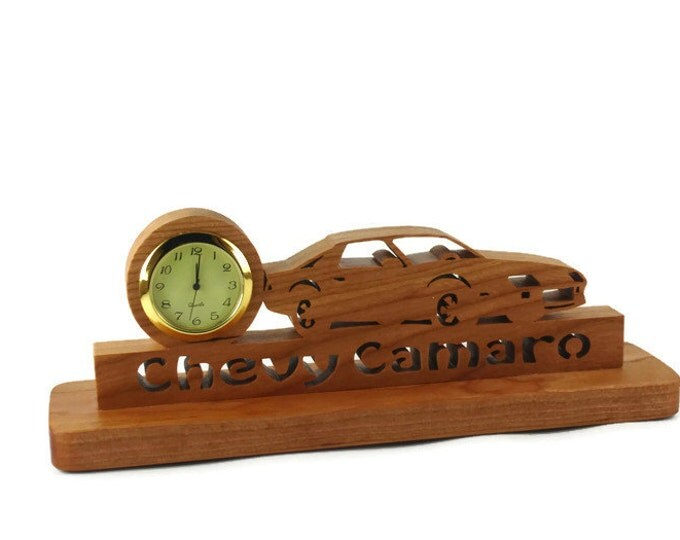 3rd Generation Camaro Desk Or Shelf Clock Handmade From Cherry Wood By KevsKrafts,