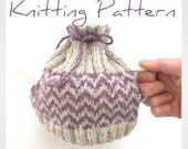 Knitting Pattern for small tea cosy , instant download , digital pattern for easy fairisle knit , pdf download , kitchen cosy , diy knitting