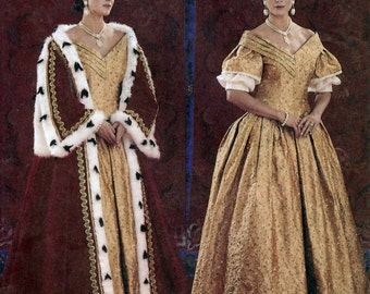 Butterick History 3713 Sewing Pattern for Misses' Queen Victoria Costume - Uncut - Size 18, 20, 22 - Bust 40, 42, 44