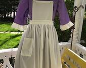Ships Today -Pioneer, Prairie, Colonial  Williamsburg  Felicity, American Girl Costume -   Girls Sz   10 - 12