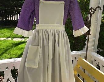 Ships Today -Pioneer, Prairie, Colonial  Williamsburg  Felicity, American Girl Costume -   Girls Sz   6 - 7