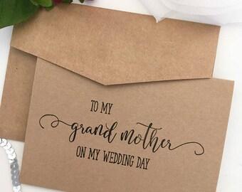 To My Grandmother Card - Granny Card - Grandma Card - On My Wedding Day Card - To My Grandmother - Grandmother Gift - Grandmother Card