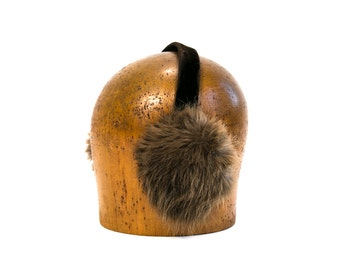 Vintage 1960's Velvet and Fur Ear Muffs Women's Accessories Winter High Fashion