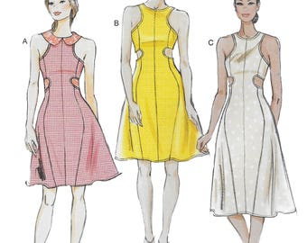 Vogue 8900 Misses Close Fitting Flared Dress Sewing Pattern Size 12 to 20, Bust 34, 36, 38, 40, 42