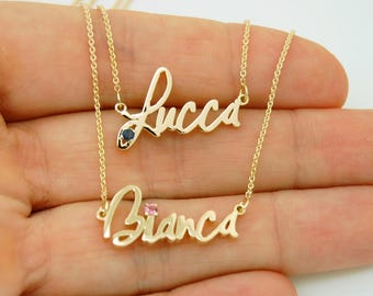 18K Gold Necklace - Name Necklace With Actual Handwriting - Custom Necklace 18k Gold Jewelry - Personalized 18K Necklace