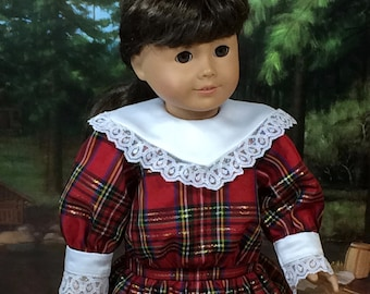 18 Inch Doll Clothes for American Girl Dolls - Christmas Dress for Samantha, Nellie, or Rebecca