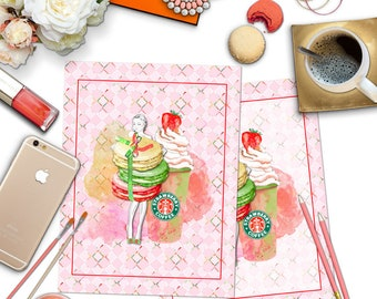 Strawberry Girl Planner Covers Summer Printable Planner Covers Freebie Erin Condren Life Planner Stickers DIY Planner LOW COST