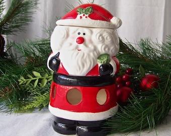 Vintage Santa Potpourri Warmer Room Scent Santa Claus Holiday Decor 1980s