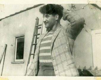 "Vintage Photo ""The Sean Penn Doppelganger"" Snapshot Antique Photo Old Black & White Photograph Found Paper Ephemera Vernacular - 144"