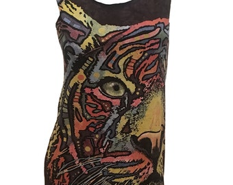 Epic Rainbow TIGER Reshaped Wildlife T-Shirt / Dress Sz. M