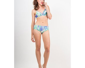 Vintage Emilio PUCCI for Formfit Rogers / Iconic bikini set / Psychedelic bra and panty XS