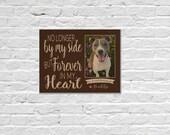 Dog Memorial Frame, Dog Loss Gift, Print On Wood, Pet Memorial, Pet Loss Gift, Dog Memorial Gift Ideas, Dog Photo Memorial, Pet Loss Frame