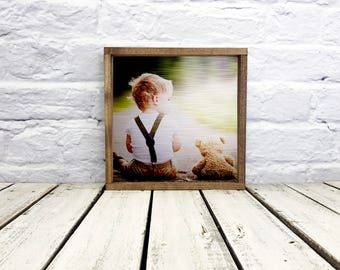 photo on wood, wedding gift, boy room decor, anniversary gift, photo gift, picture of wood, tin, metal, photo gift mom, custom photo