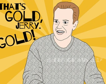 Kenny Bania greeting card // Seinfeld