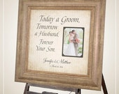 MOTHER of the Groom, Wedding Sign, Photo Frames, GROOM Parents Gift , Today A Groom, Personalized Picture Frame, 16 X 16