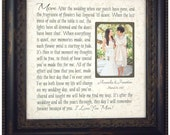 Wedding Picture Frame Mother of the Bride Gift, Parents Thank You Mom Dad Wedding Sign Dates Frame, cake toppers for wedding, 16 X 16