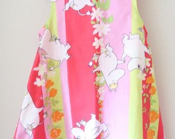 MOOMIN Fabric Sleeveless Dress Age 3-4