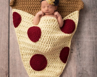 Pizza Slice Cocoon Blanket MADE To ORDER All Sizes Snuggle Blanket Sleeping Bag Lap Blanket Baby Toddler Child Adult Sizes